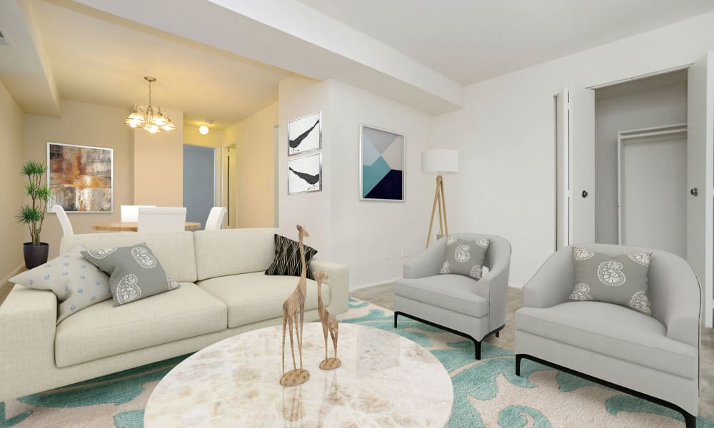 Living Room at Arbors at Edenbridge Apartments & Townhomes in Parkville, Maryland