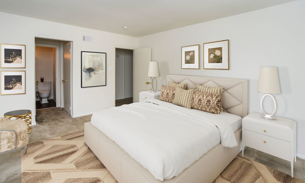 Bedroom at Arbors at Edenbridge Apartments & Townhomes in Parkville, Maryland