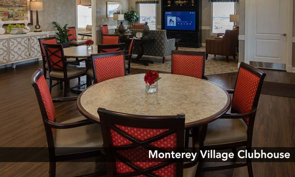Dining is available in our Clubhouse at Monterey Village Senior Living in Lawrence, Kansas
