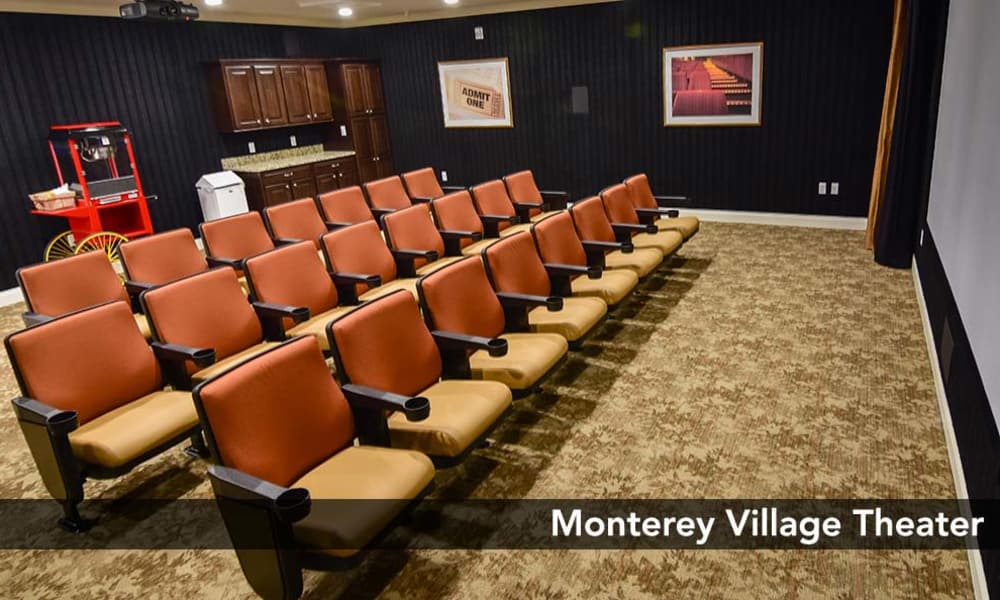 Monterey Village Senior Living offers a movie theatre in Lawrence, Kansas