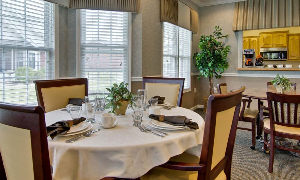 Dining area at Monterey Village Senior Living in Lawrence, Kansas