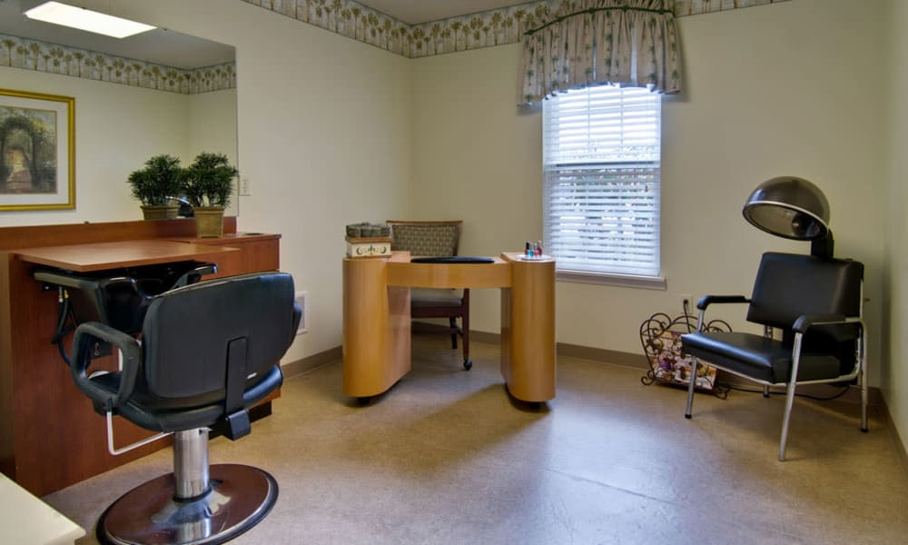 Hair Salon in our independent living facility Capetown Senior Living in Cape Girardeau, Missouri
