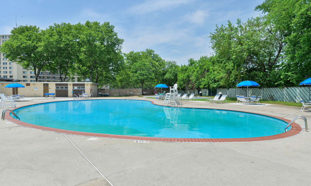 Pool at Towers of Windsor Park Apartment Homes in Cherry Hill, NJ