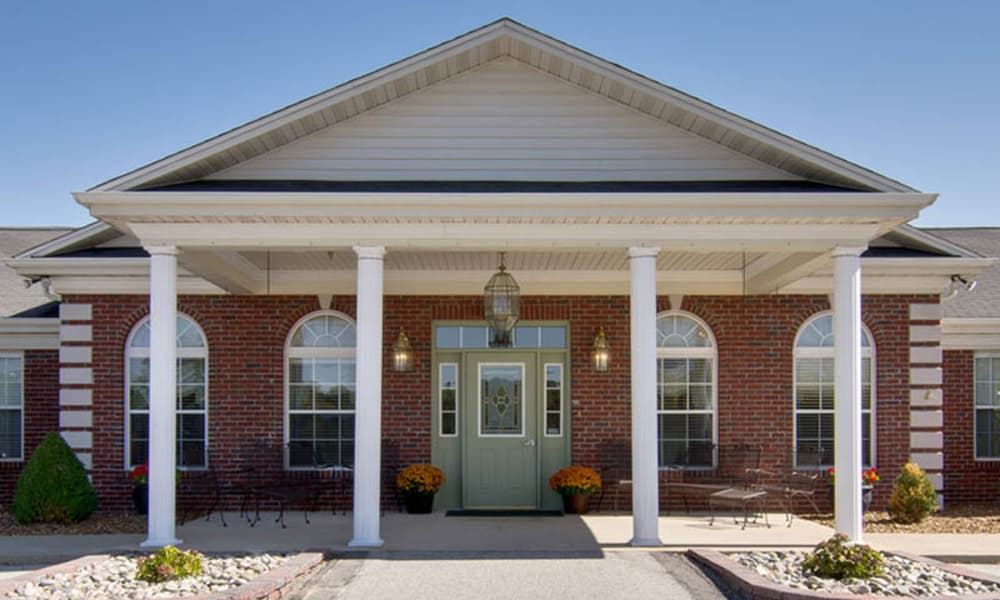 Front entrance at Teal Lake Senior Living in Mexico, Missouri