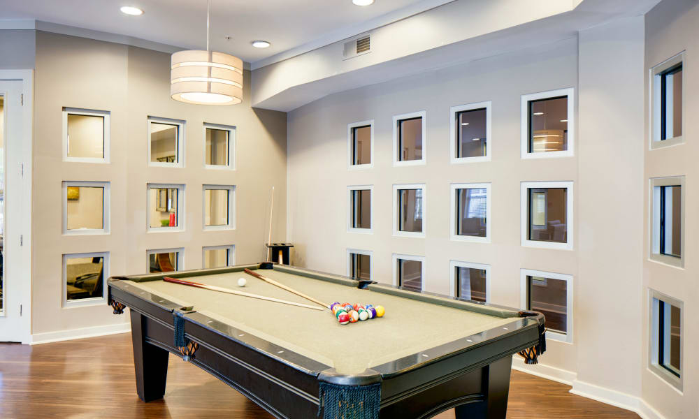 Billiard table at The Quarters at Towson Town Center in Towson, Maryland