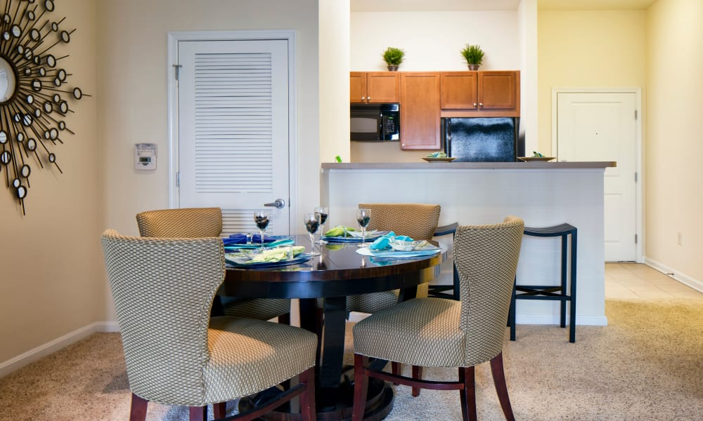 Dining room at The Quarters at Towson Town Center in Towson, Maryland