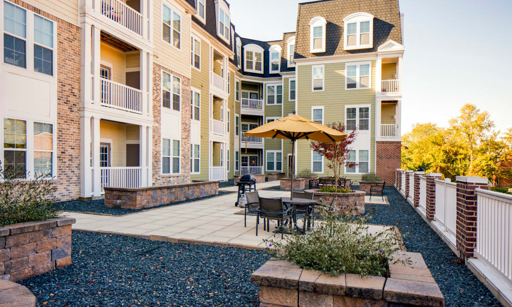 Community area at The Quarters at Towson Town Center in Towson, Maryland