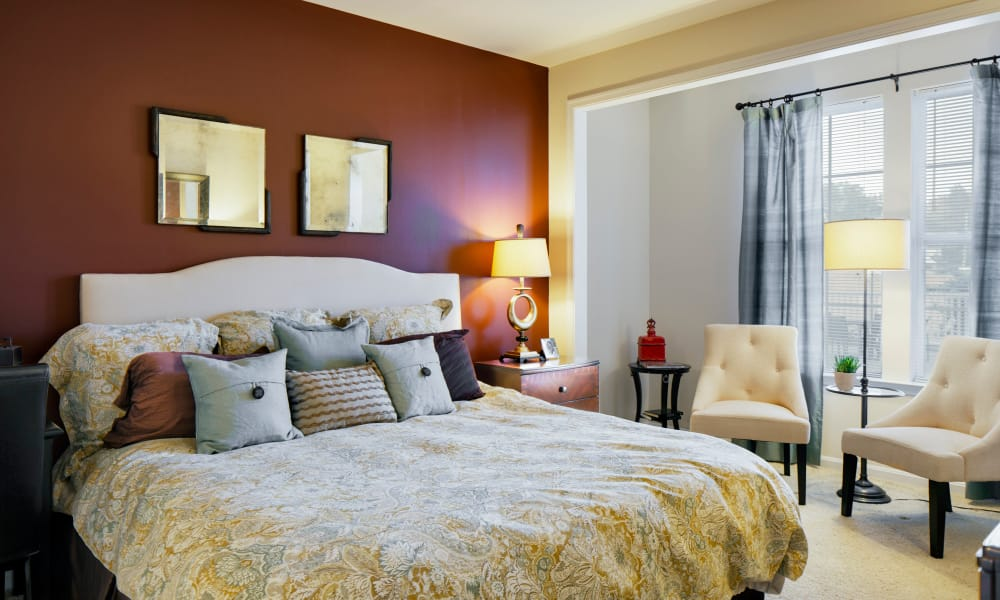 Bedroom at The Quarters at Towson Town Center in Towson, Maryland