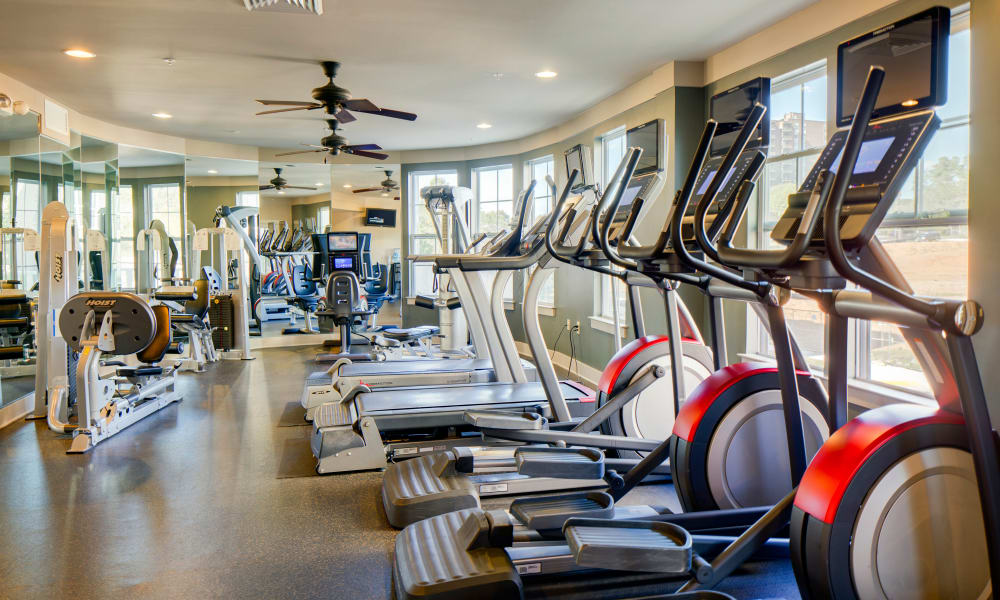 Fitness center at The Quarters at Towson Town Center in Towson, Maryland