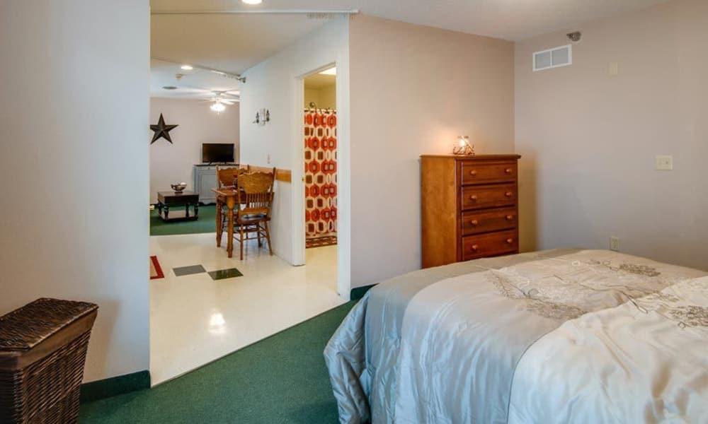 One bedroom floor plan at Victorian Place of Owensville in Owensville, Missouri