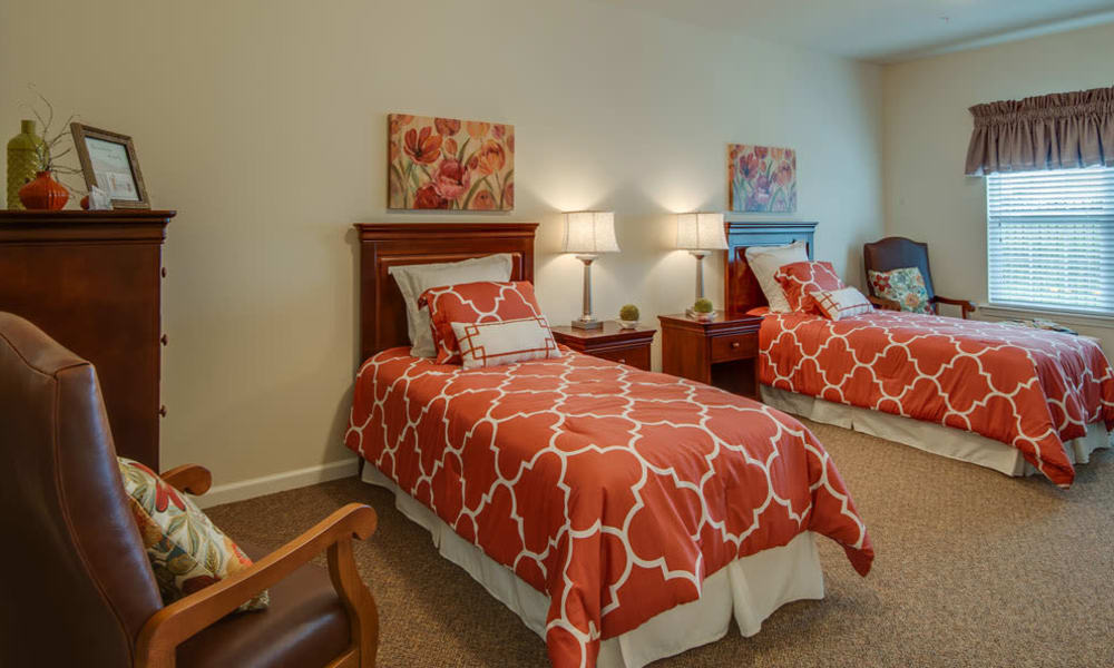 Shared floor plan options available at Centennial Pointe Senior Living in Springfield, Illinois