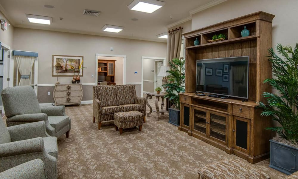 Tv Lounge at Centennial Pointe Senior Living in Springfield, Illinois