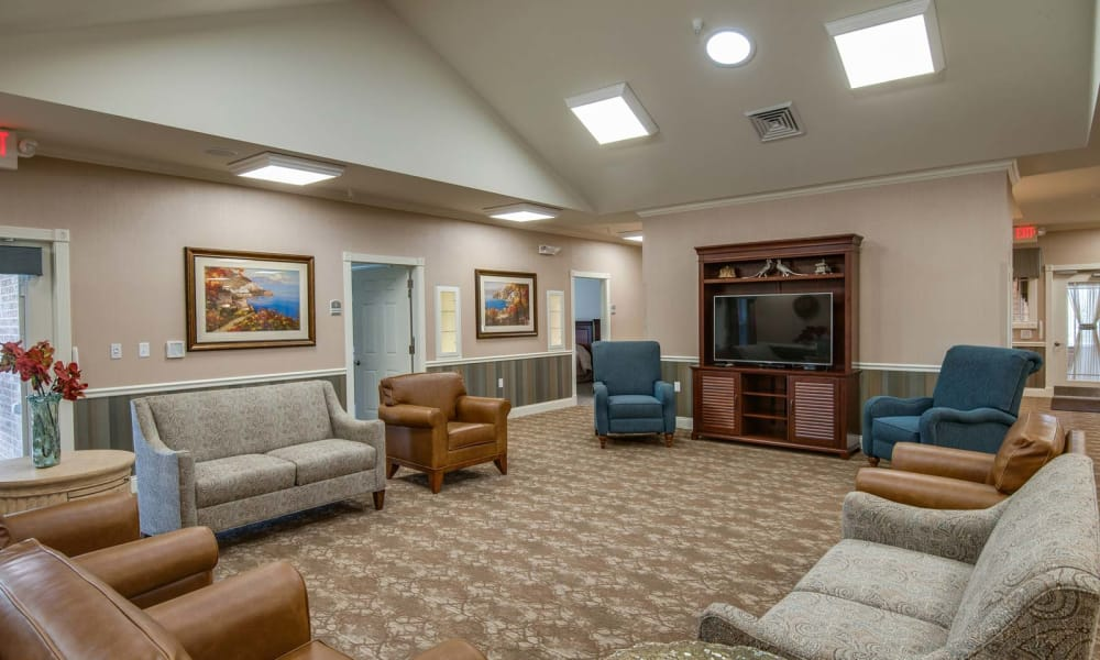 TV room at Centennial Pointe Senior Living in Springfield, Illinois