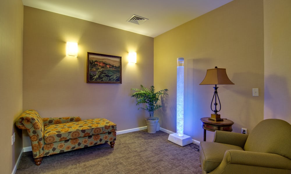 Snoezelen room at Parkway Gardens Senior Living in Fairview Heights, Illinois