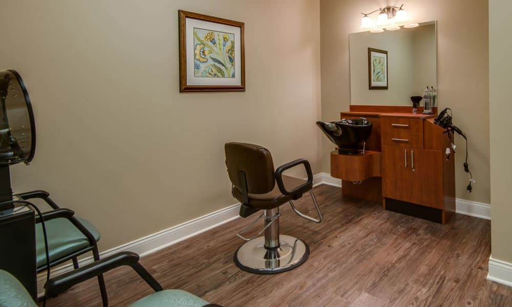 Hair Salon at Adams Pointe Senior Living in Quincy, Illinois
