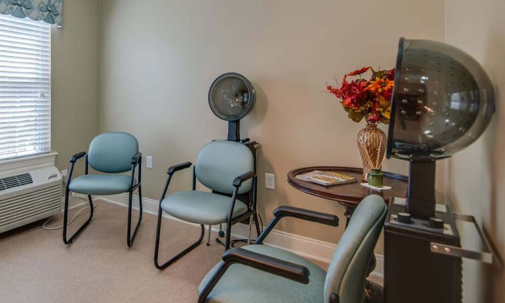 Beauty Salon at Adams Pointe Senior Living in Quincy, Illinois