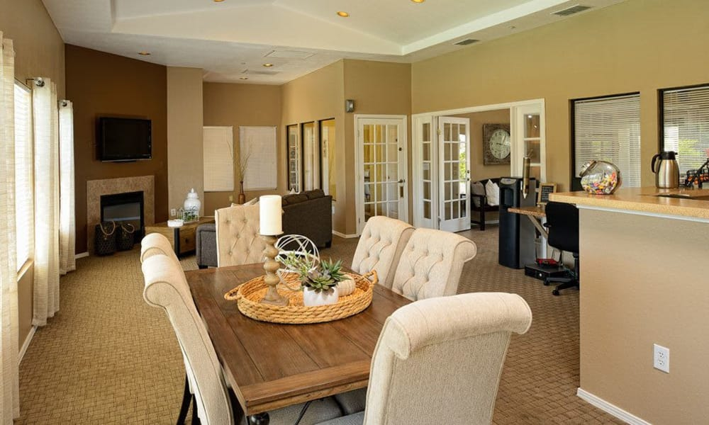 Spacious clubhouse at The Patriot Apartments in El Paso, Texas