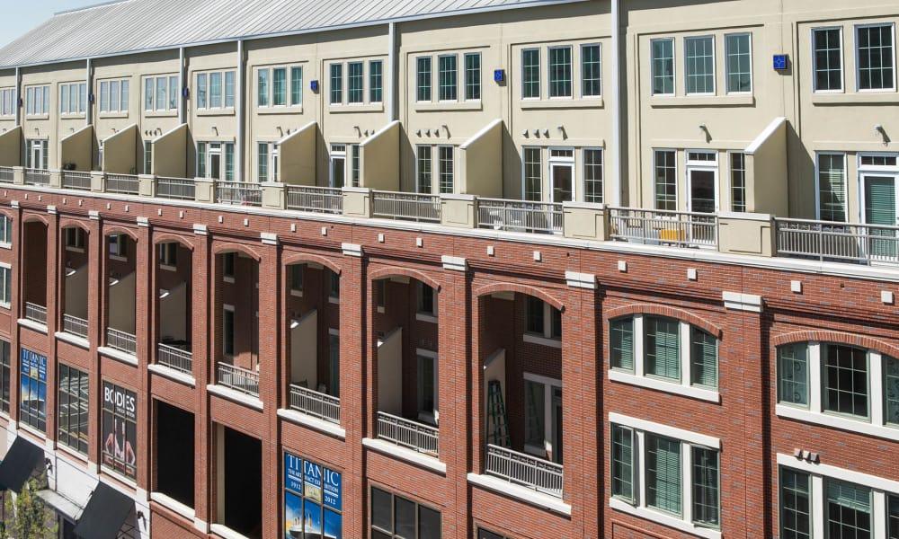 Apartment building at 17th Street Lofts in Atlanta, Georgia