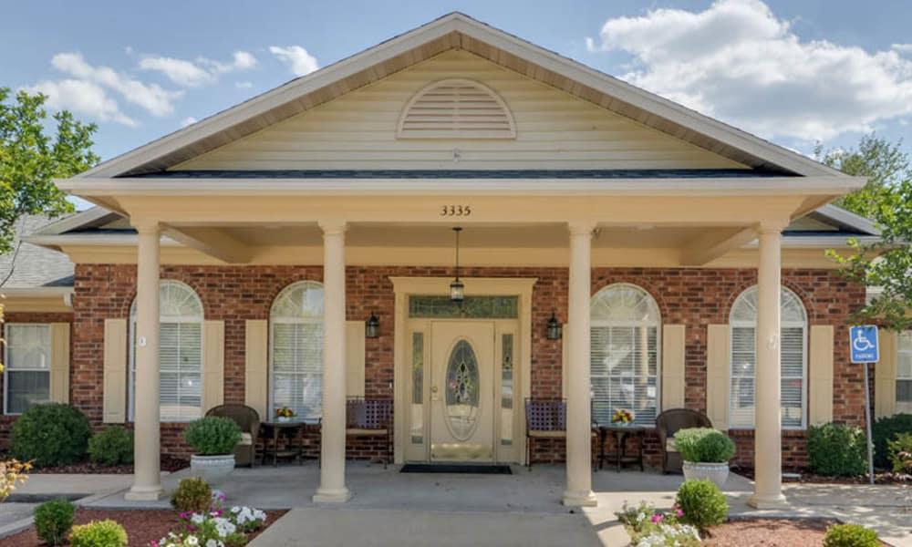 Front entrance at Westbrook Terrace Senior Living in Jefferson City, Missouri