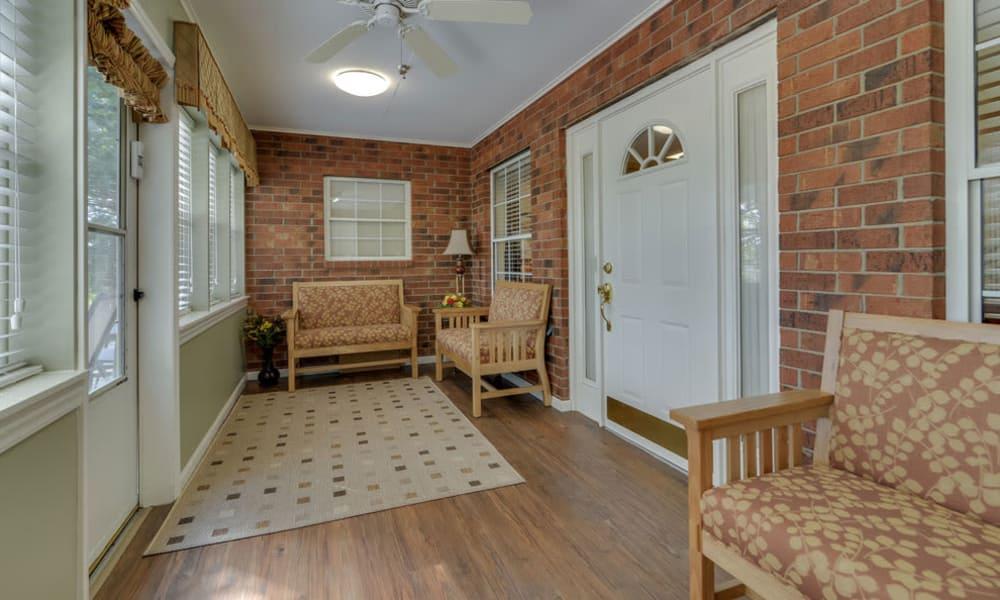 Sun room at Westbrook Terrace Senior Living in Jefferson City, Missouri