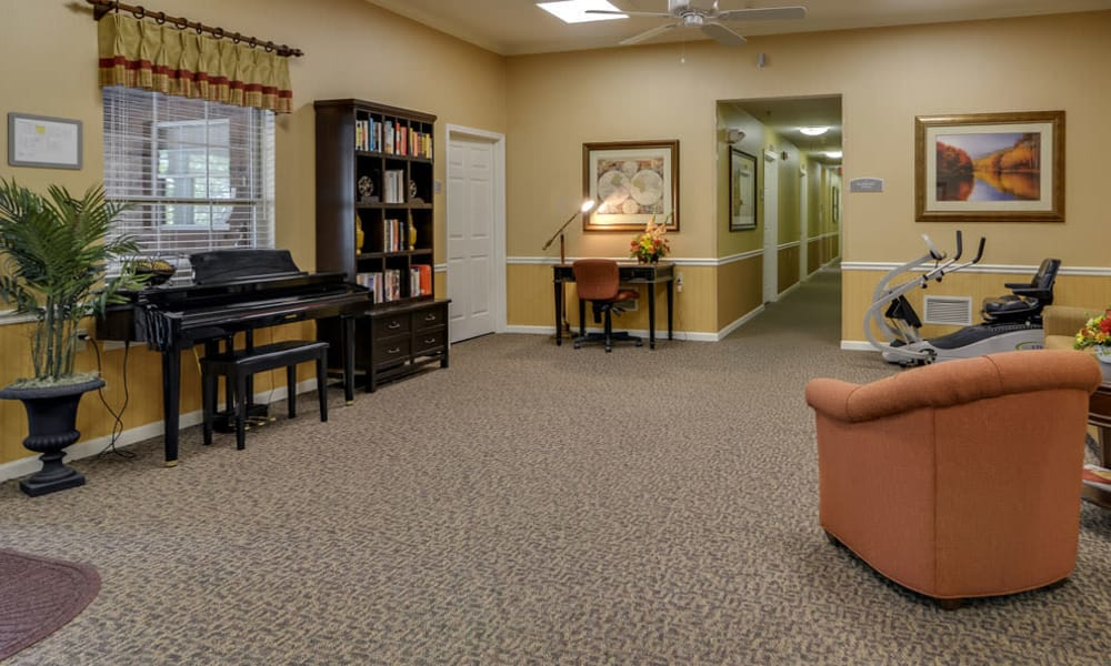Common area with a piano of Westbrook Terrace Senior Living in Jefferson City, Missouri