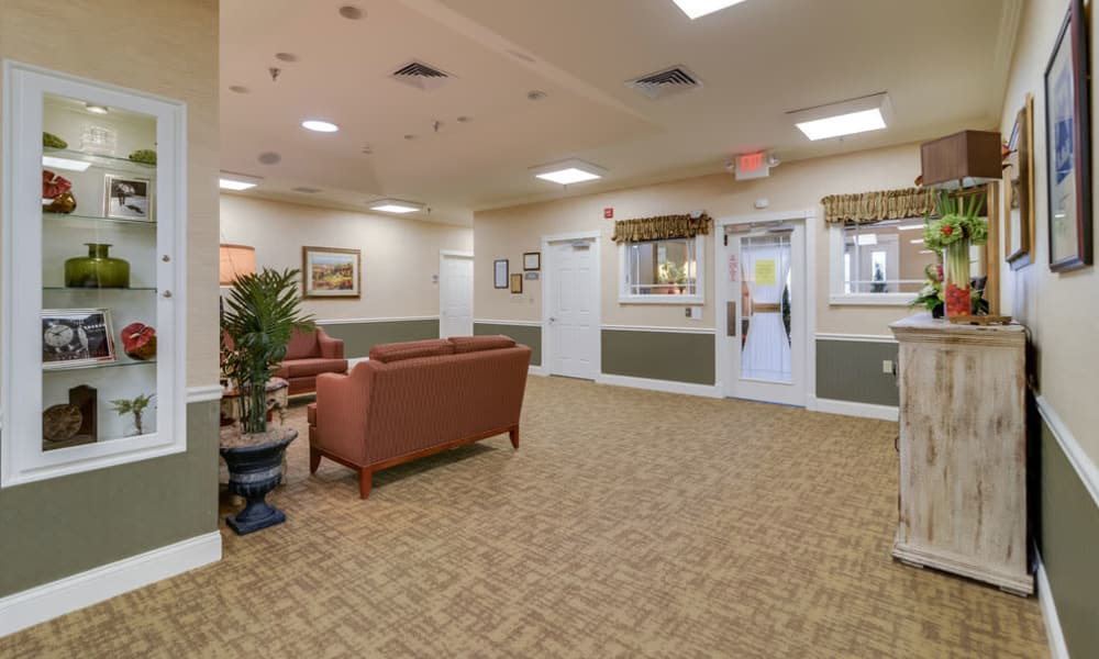 Memory Care entryway at  Westbrook Terrace Senior Living in Jefferson City, Missouri
