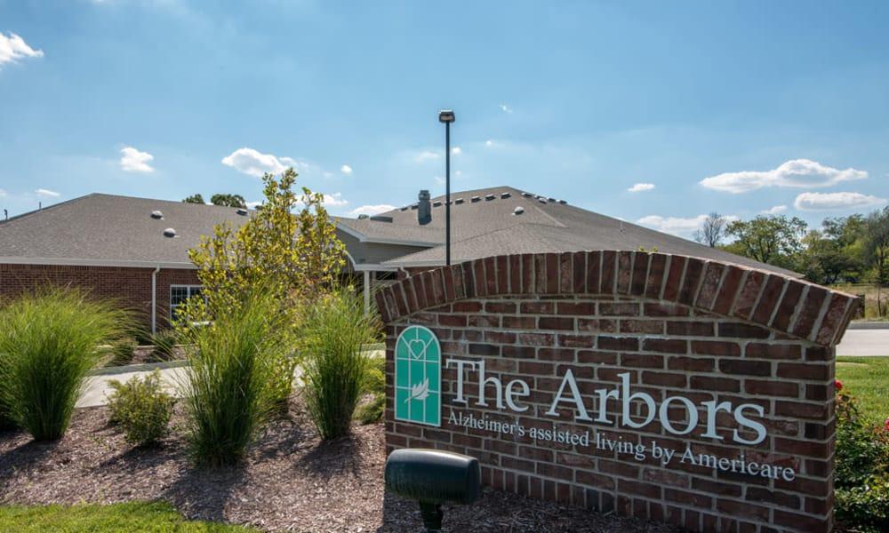 The arbors monument at Westbrook Terrace Senior Living in Jefferson City, Missouri