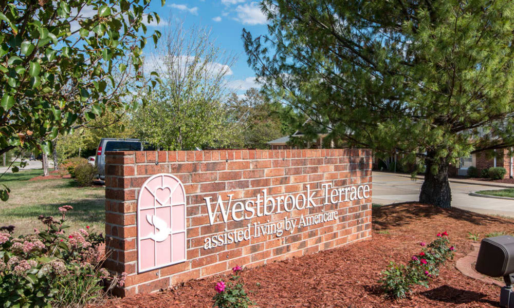 Branding and Signage outside of Westbrook Terrace Senior Living in Jefferson City, Missouri
