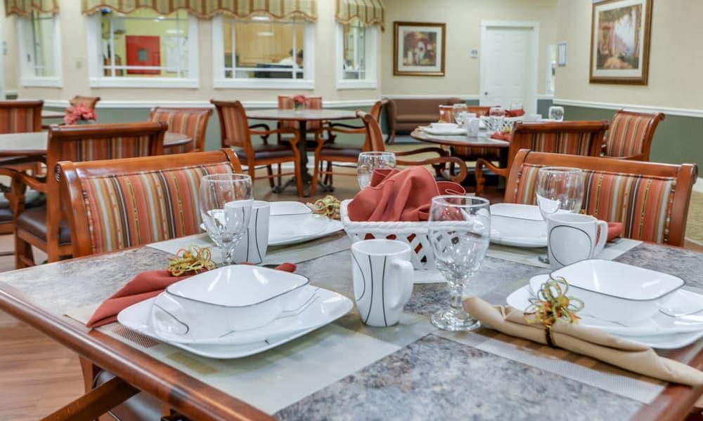 Dining room at Westbrook Terrace Senior Living in Jefferson City, Missouri