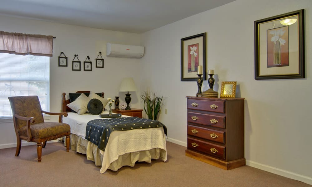 Cozy one bedroom at Bluff Creek Terrace Senior Living in Columbia, Missouri