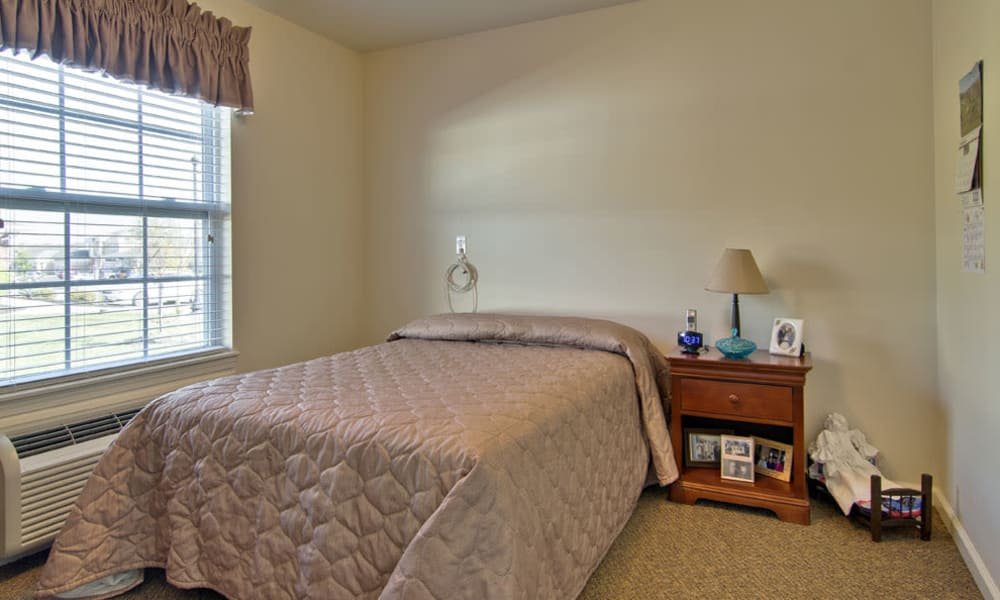 Cozy floor plan for assisted living residents at Sugar Creek Senior Living in Troy, Missouri