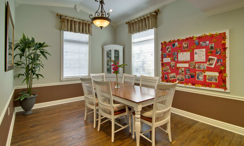 Naturally lit dining room at Sugar Creek Senior Living in Troy, Missouri