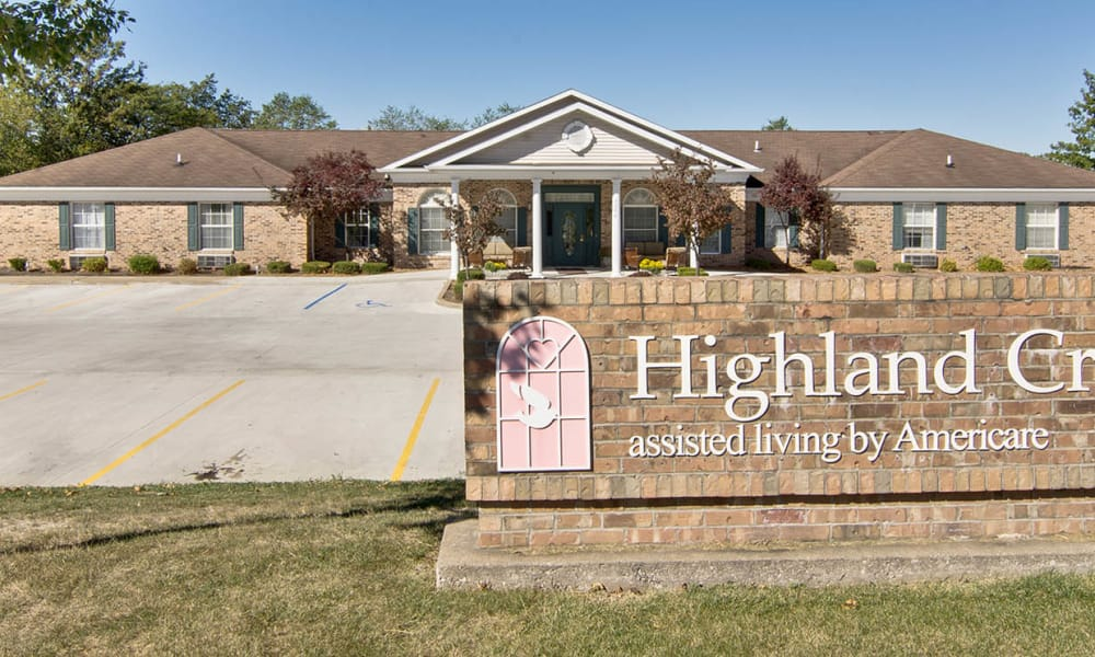 Branding and Signage outside of Highland Crest Senior Living in Kirksville, Missouri