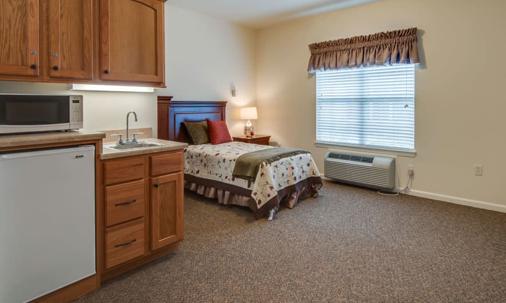 Independent Living spaces for residents at Maplebrook Senior Living in Farmington, Missouri