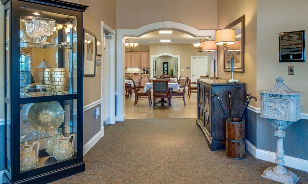 Entrance interior at Maplebrook Senior Living in Farmington, Missouri