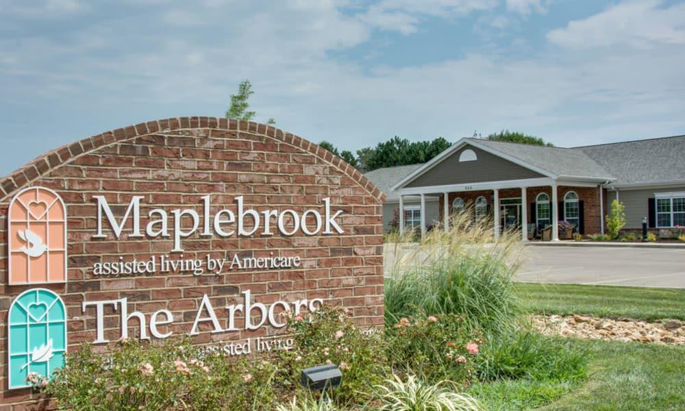 Branding and Signage outside of Maplebrook Senior Living in Farmington, Missouri