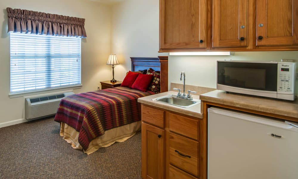 Shared living spaces available at Maplebrook Senior Living in Farmington, Missouri