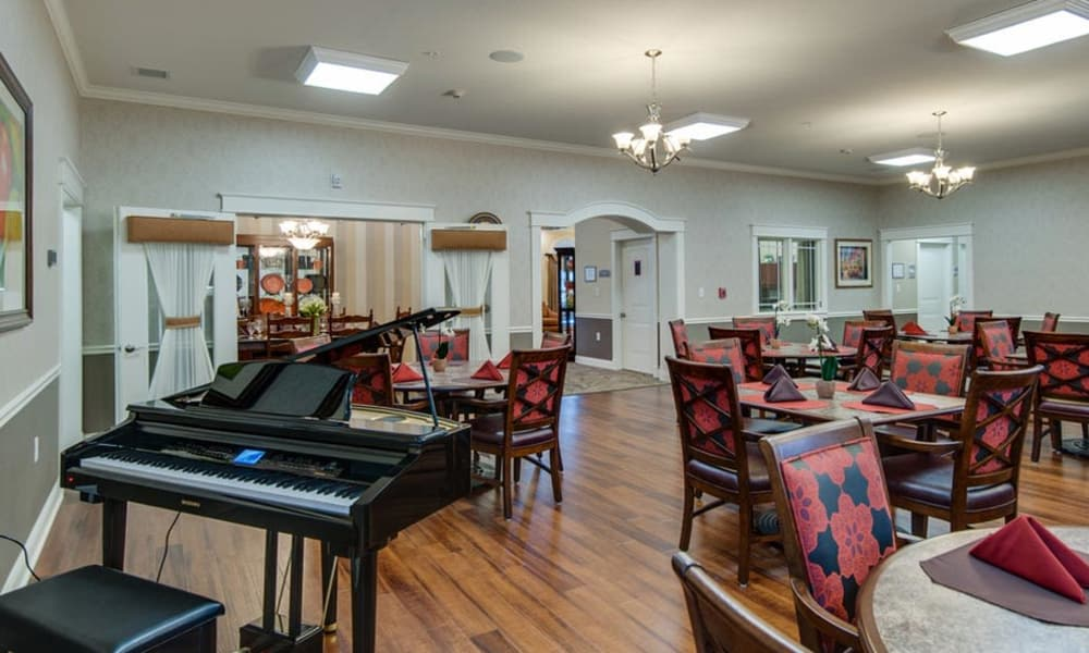 Music room at Mattis Pointe Senior Living in Saint Louis, Missouri