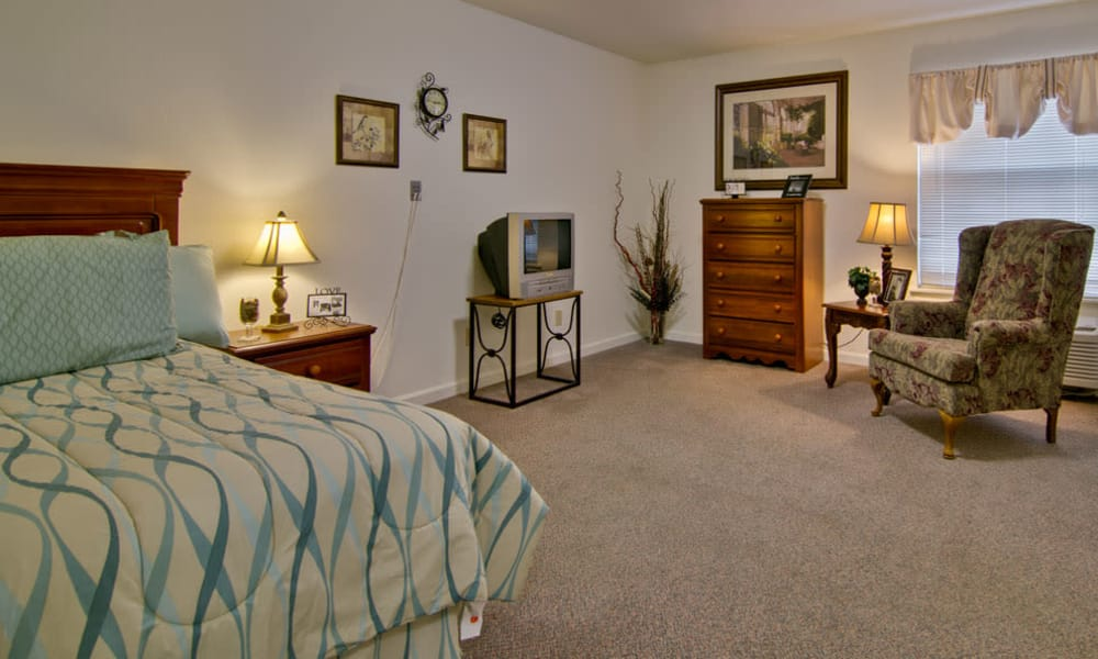 Studio apartment model at Parkwood Meadows Senior Living in Sainte Genevieve, Missouri