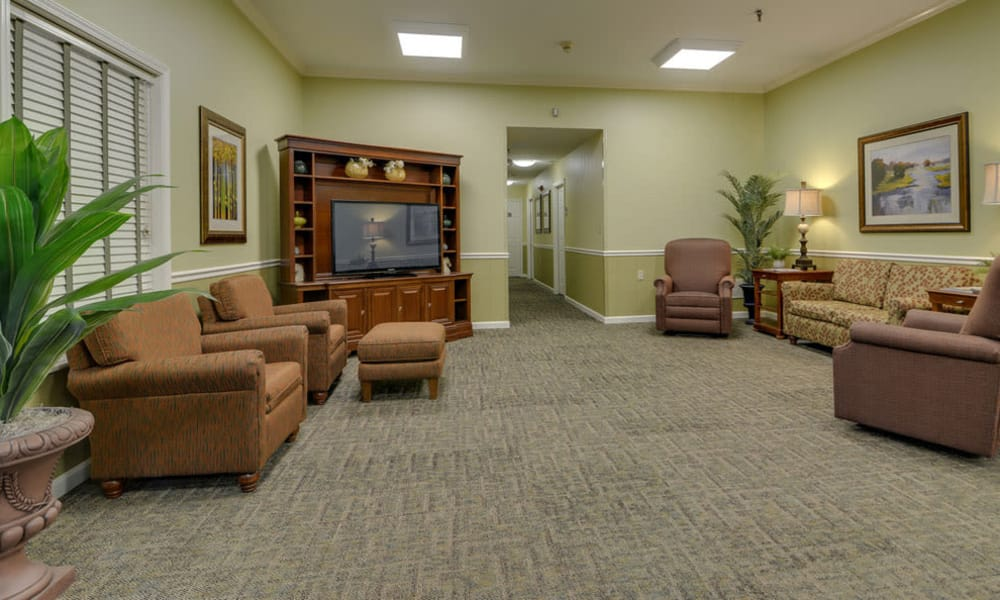 Second entertainment room at Auburn Creek Senior Living in Cape Girardeau, Missouri