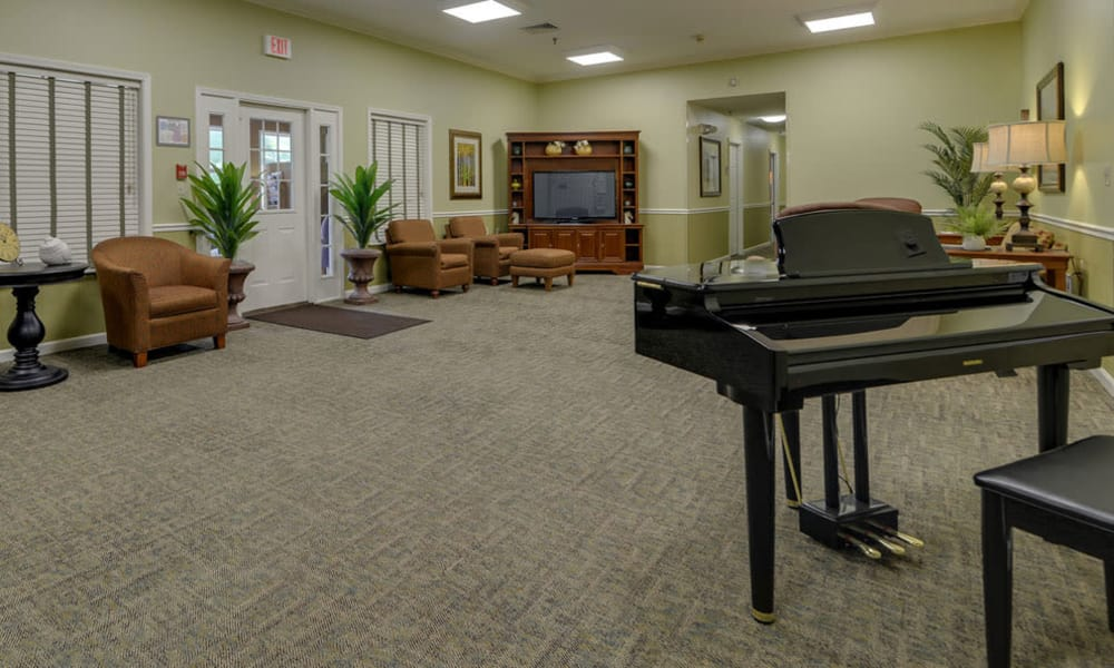 Music corner at Auburn Creek Senior Living in Cape Girardeau, MO