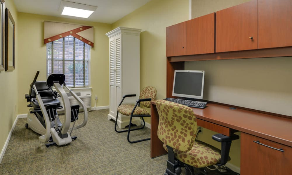 Fitness and Health room at Auburn Creek Senior Living in Cape Girardeau, Missouri