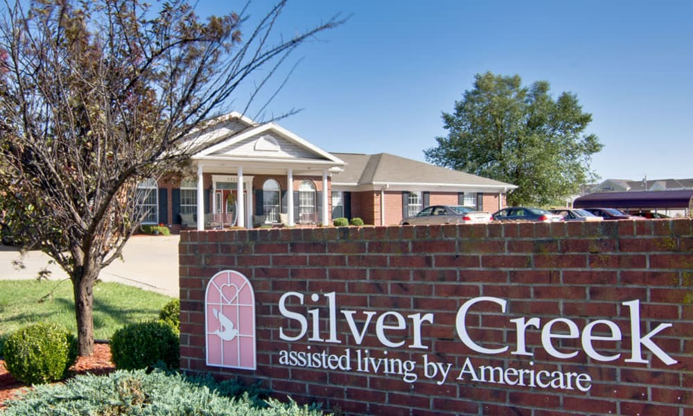 Branding and Signage outside of Silver Creek Senior Living in Joplin, Missouri