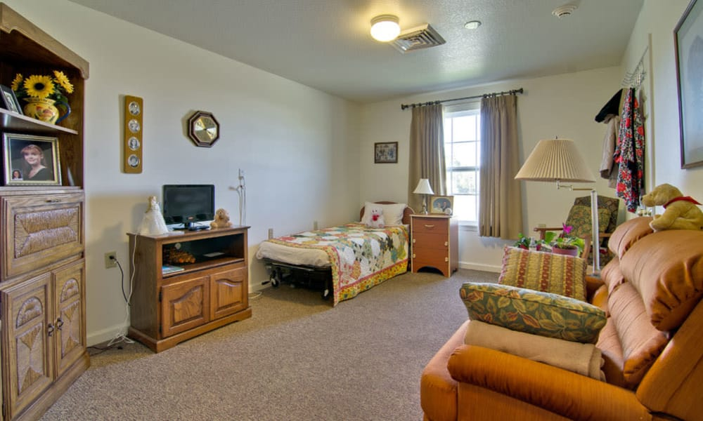 Memory care studios available at Silver Creek Senior Living in Joplin, Missouri
