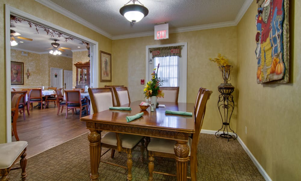 Private dining area at Silver Creek Senior Living community in Joplin, Missouri