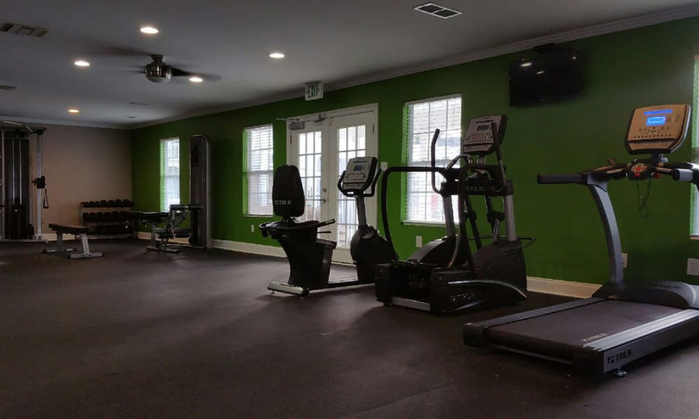 Fitness center at Park West in Mobile, Alabama