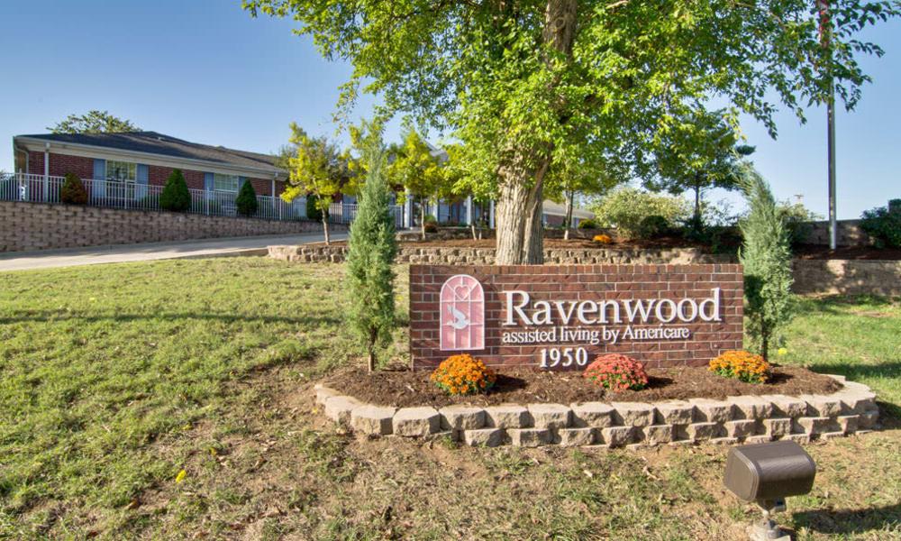Branding and Signage outside of Ravenwood Senior Living in Springfield, Missouri