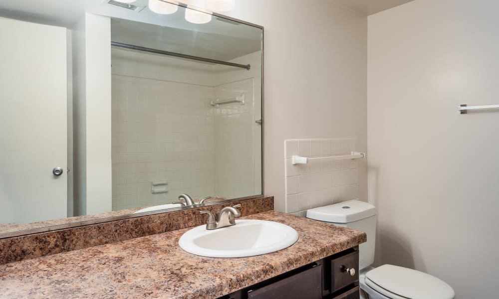 Bathroom at Regency Lakeside Apartment Homes in Omaha, NE