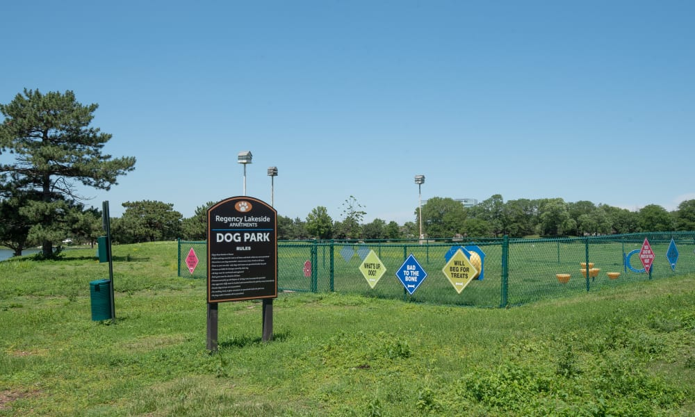 Dog park at Regency Lakeside Apartment Homes in Omaha, NE