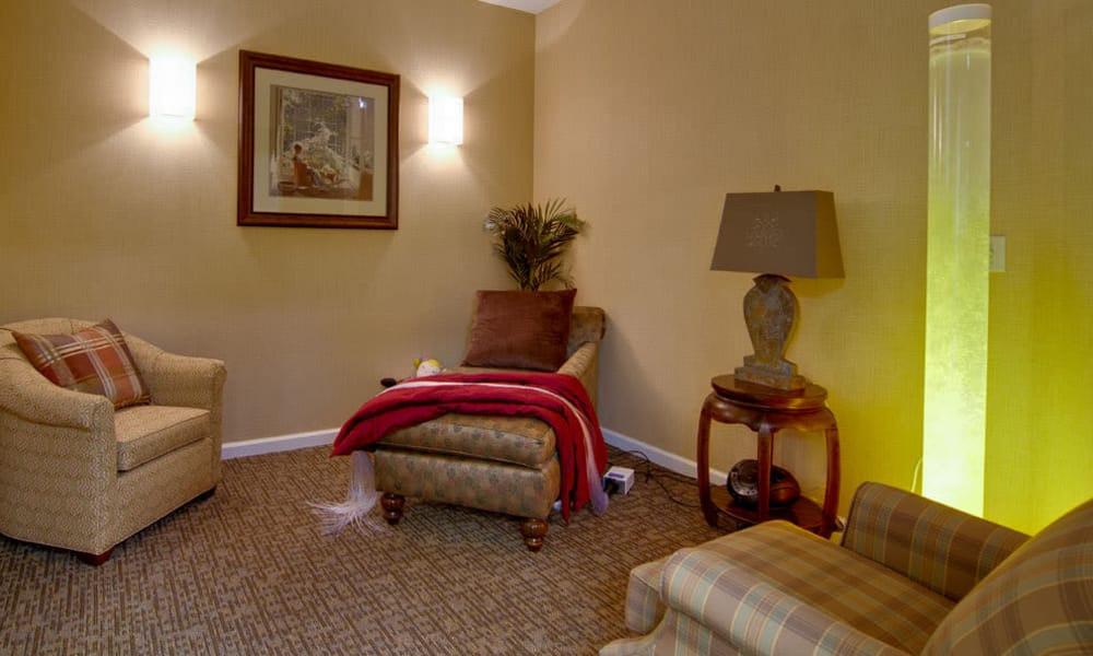 Relaxation room at Olive Grove Terrace Senior Living in Olive Branch, Mississippi